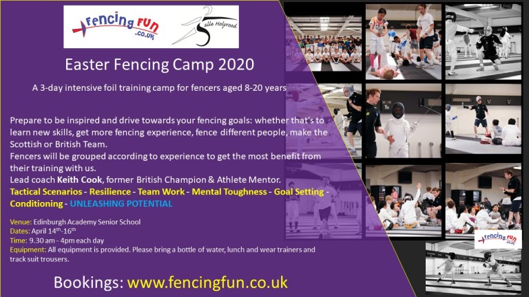 Fencing Fun Easter Camp